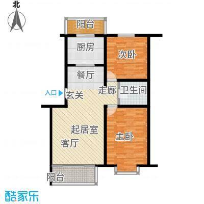 富锦嘉园91.00㎡五区6号楼F3――面积9100m户型
