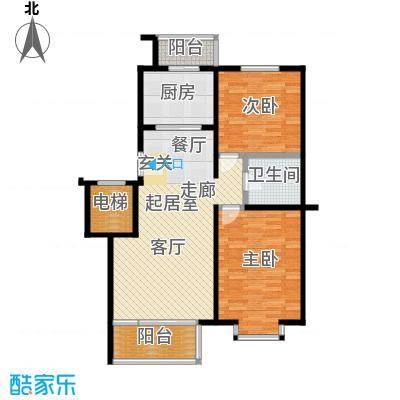富锦嘉园93.00㎡五区8号楼F1-D-面积9300m户型