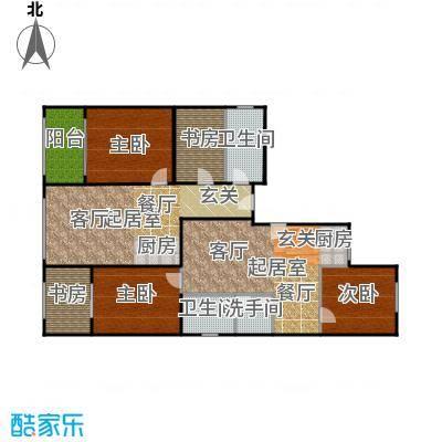 唐宁ONE90.00㎡1号楼6单元3室2面积9000m户型