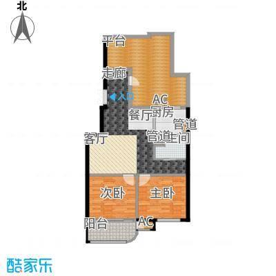 富贵园92.00㎡三期3#12层M2面积9200m户型