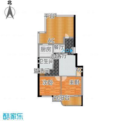 富贵园89.00㎡三期3#12层C'22面积8900m户型