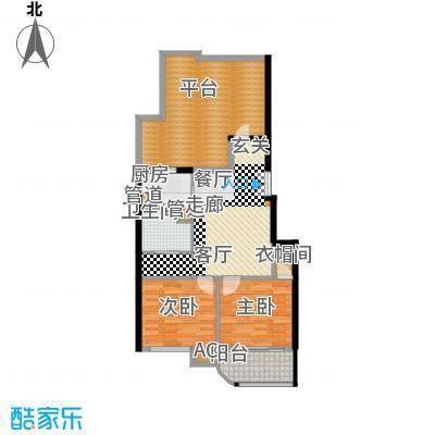 富贵园88.00㎡三期1#六层C2面积8800m户型