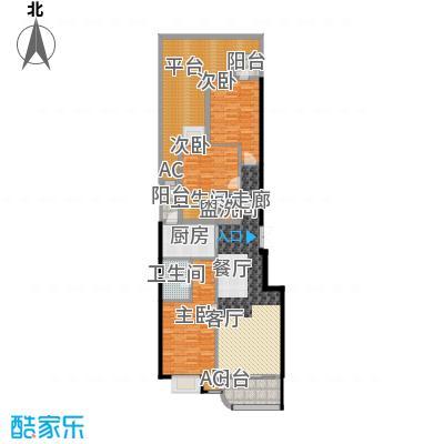 富贵园134.00㎡三期1#二层Ca面积13400m户型