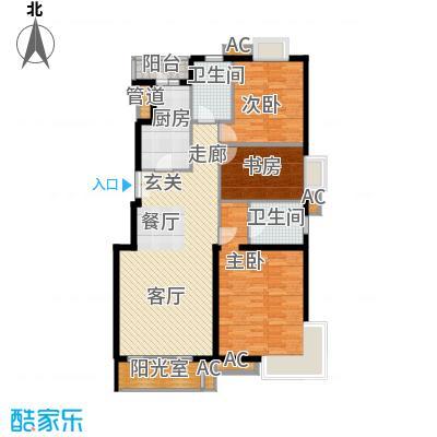 上海沙龙118.31㎡B3面积11831m户型