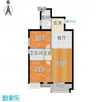 中信城一期95.10㎡1号楼A2-2-两面积9510m户型