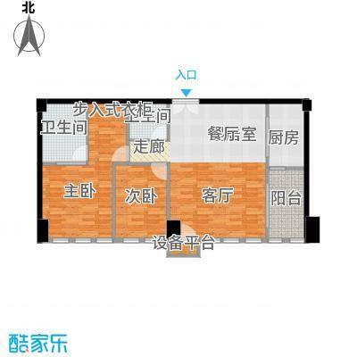 西钓鱼台嘉园119.04㎡三号楼3单元面积11904m户型
