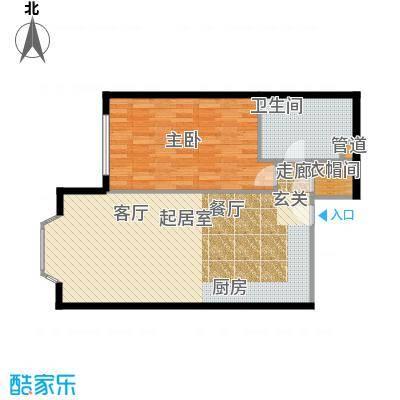 蓝堡国际公寓79.57㎡C03面积7957m户型