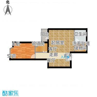 蓝堡国际公寓80.80㎡北区H面积8080m户型