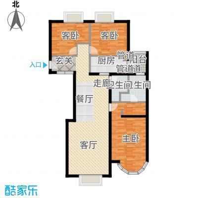 鹿港嘉苑148.35㎡2号楼F面积14835m户型