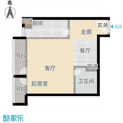 华贸国际公寓53.37㎡e_031面积5337m户型