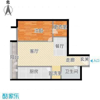 华贸国际公寓66.14㎡e_021面积6614m户型