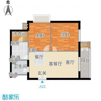 幸福家园91.26㎡15楼01面积9126m户型