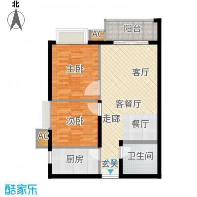 幸福家园87.33㎡21楼03面积8733m户型