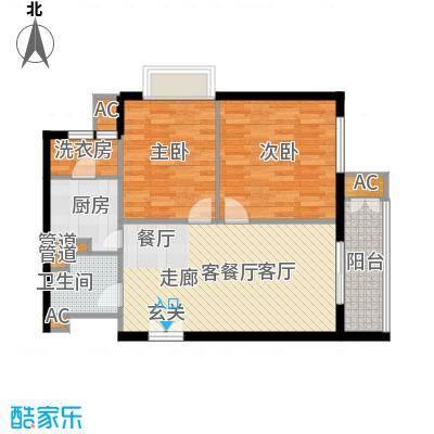 幸福家园15#B-3-122户型
