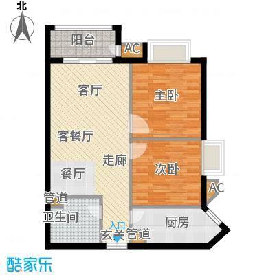 幸福家园88.14㎡11号楼022面积8814m户型