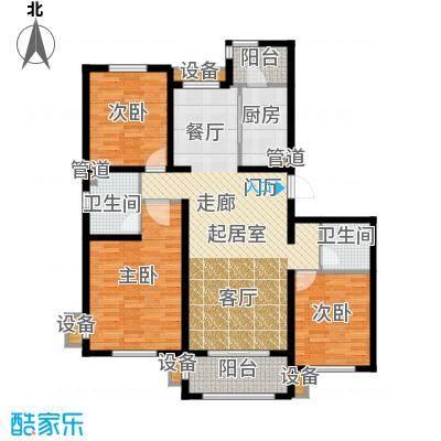 东方太阳城三期琴湖湾136.06㎡B4面积13606m户型
