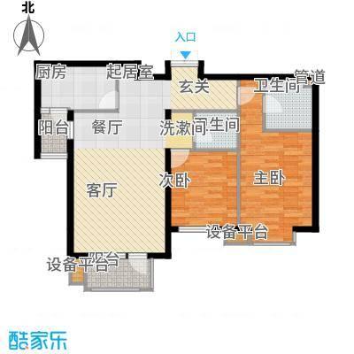 百旺茉莉园EA3(B商板式)户型
