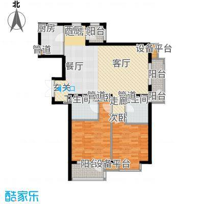百旺茉莉园EA2(B板式)2户型