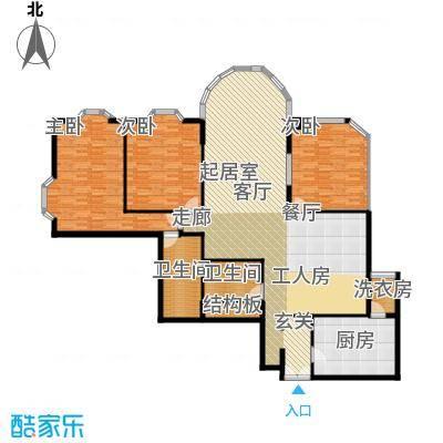 鹏润家园184.49㎡豪苑A2面积18449m户型