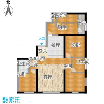 US联邦公寓183.65㎡E面积18365m户型