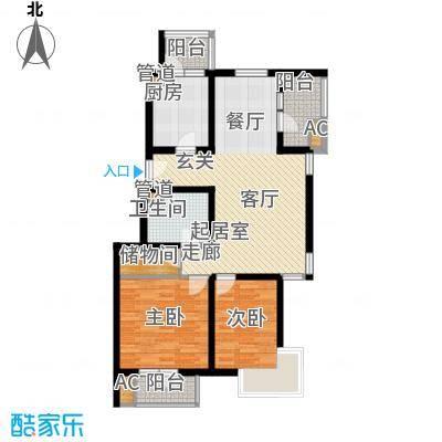 万科青青家园95.71㎡217号楼N户面积9571m户型