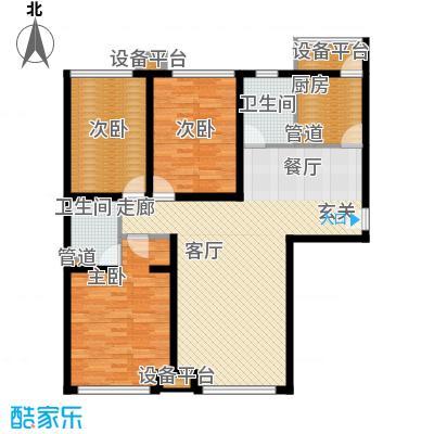 蓝调沙龙雅园135.48㎡H2面积13548m户型