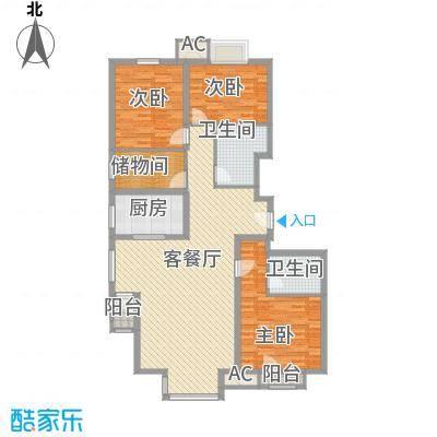 万年花城一期148.96㎡5#楼a反面积14896m户型