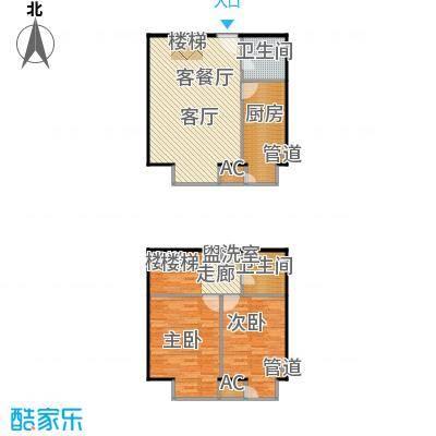 和平里de小镇111.52㎡2/3号楼G户面积11152m户型