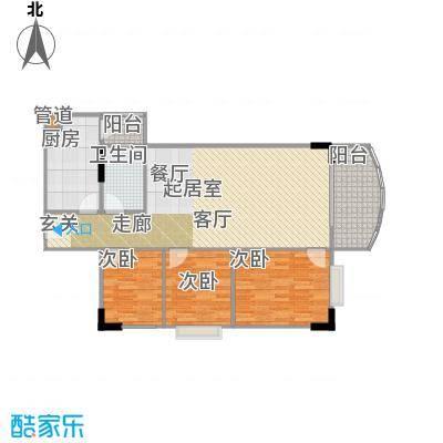 广州白天鹅花园91.35㎡户型