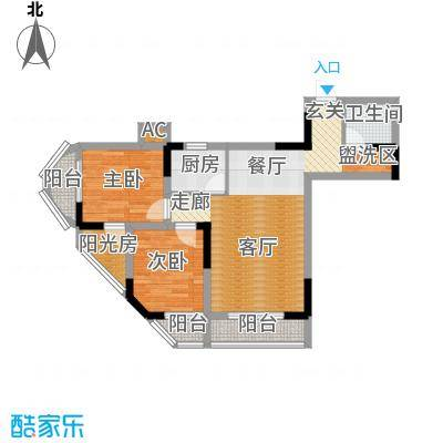 盛仁汇大厦61.03㎡房型户型