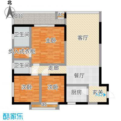 荣鼎・新苑112.08㎡房型户型