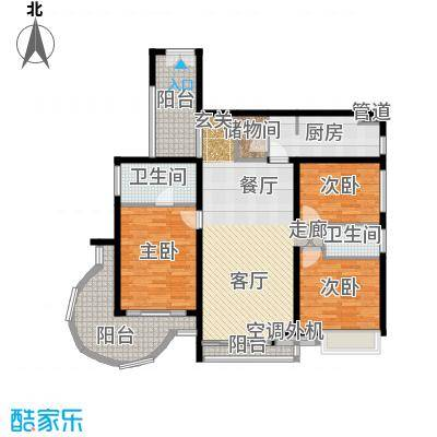 曲江南苑142.13㎡U型结构户型