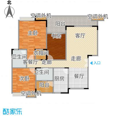福江・名城名城110.09㎡一期2号楼1单元3层1号房3室户型