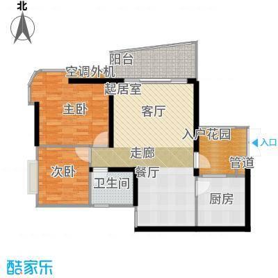 庆业巴蜀城B区60.00㎡房型户型