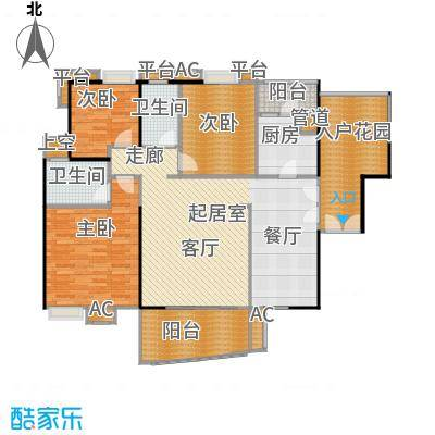 宏诚海岸花园114.17㎡宏峰轩4栋04单元户型