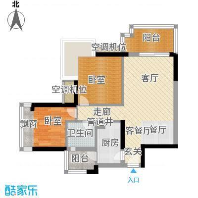 东华明珠园60.00㎡房型户型
