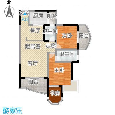 云岭天城67.63㎡房型户型