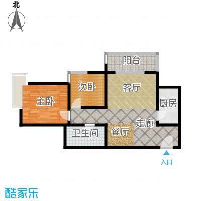 东方米兰85.27㎡6/7号楼D3户型