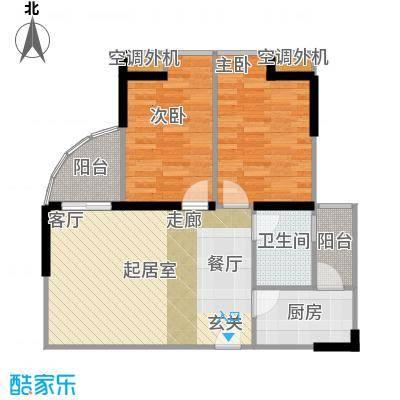 大川建博中心户型2室1卫1厨