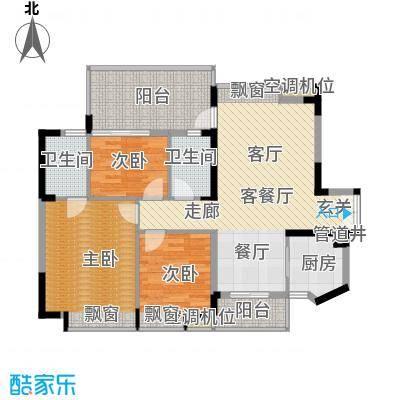 东华明珠园100.00㎡房型户型