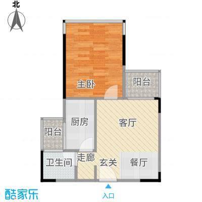 香缇雅苑40.00㎡房型户型