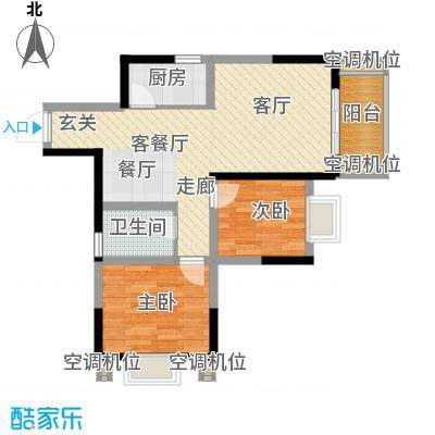 御景龙庭59.53㎡房型户型