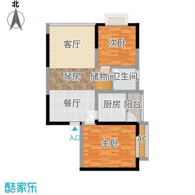 荣鼎・新苑76.82㎡房型户型