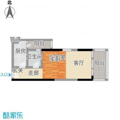 渝能国际42.84㎡房型户型