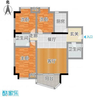 港城静园103.97㎡房型户型