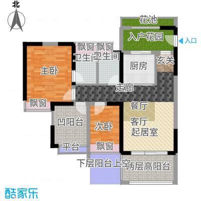 康城国际中海康城花园89.00㎡F户型