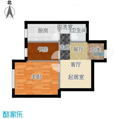 千缘爱在城54.28㎡公寓10户型