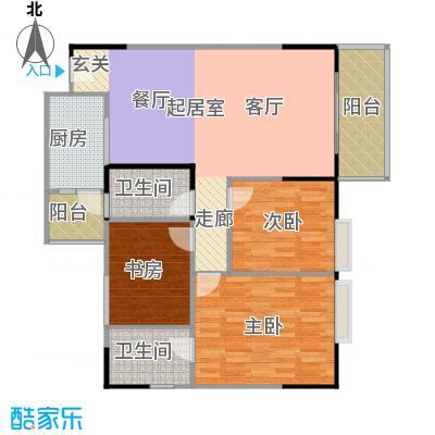 港韵新苑88.40㎡房型户型