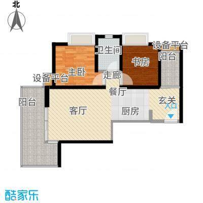 紫薇希望城90.00㎡在售17号楼2单元6号房户型