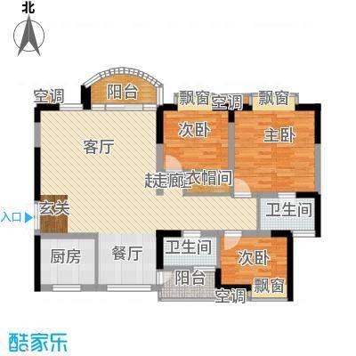 天工太阳岛103.91㎡房型户型